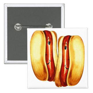 Vintage Kitsch Hot Dogs in Lover Hotdog Lovers Pins