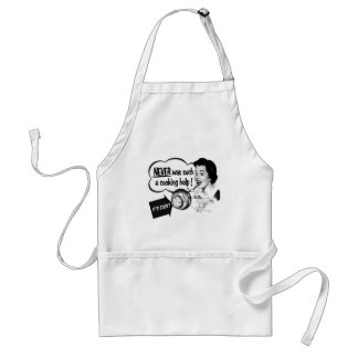 Vintage Kitsch Housewife Stove Ad The Potwatcher Adult Apron