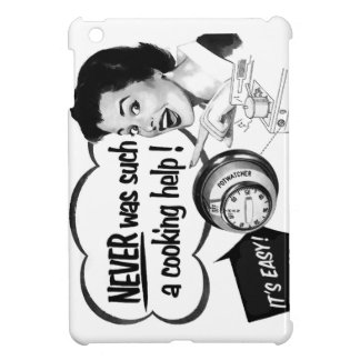 Vintage Kitsch Housewife Stove Ad The Potwatcher iPad Mini Cases