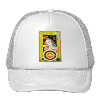 Vintage Kitsch Koky The Clown Tin Toy Game Board Trucker Hat