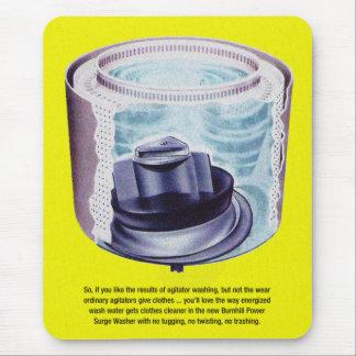 Vintage Kitsch Laundry Washing Machine Agitator Mouse Pad