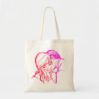 Vintage Kitsch Marriage Romance 60s Couple Canvas Bags