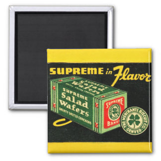 Vintage Kitsch Matchbook Art Supreme Wafers Magnet