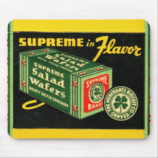 Vintage Kitsch Matchbook Art Supreme Wafers Mouse Pad