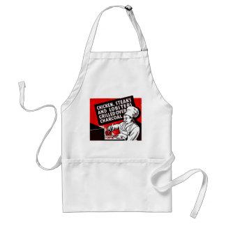Vintage Kitsch Matchbook Chef Steaks Chicken Adult Apron