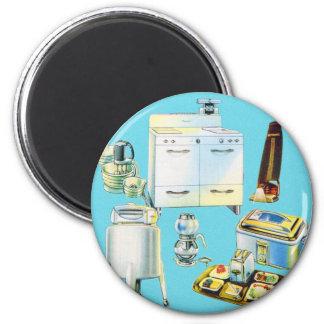 Vintage Kitsch Modern Household Appliances Magnet