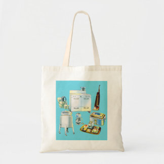 Vintage Kitsch Modern Household Appliances Tote Bag