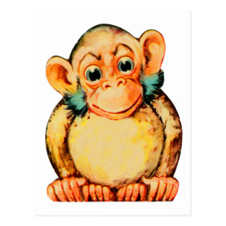 Vintage Kitsch Monkey Chimp Seemonkee Postcard