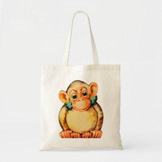 Vintage Kitsch Monkey Chimp Seemonkee Tote Bag