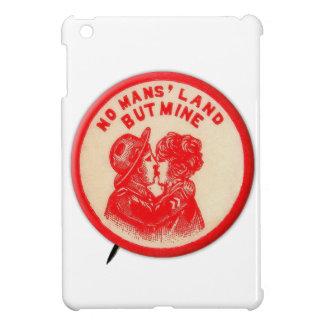 Vintage Kitsch Pinback Button Joke No Man's Land iPad Mini Cover