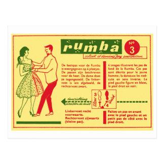 Vintage Kitsch Pop Rumba Dance Dutch 50s Card