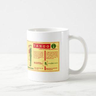Vintage Kitsch Pop Tango Dance Dutch 50s Card Coffee Mugs