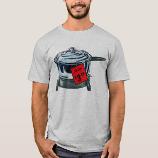 Vintage Kitsch Popcorn Electric Popper Ad Art T-Shirt