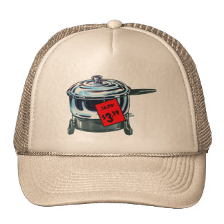 Vintage Kitsch Popcorn Electric Popper Ad Art Trucker Hat