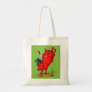 Vintage Kitsch Pork Stuck Pig With Knives Ad Bags