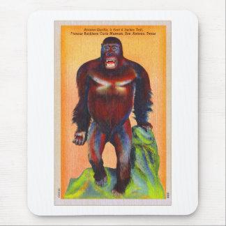 Vintage Kitsch Postcard Stuffed Gorillia Ape Odd Mouse Pad