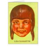 Vintage Kitsch Pulp Football Leatherette Helmet Card