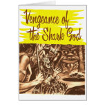 Vintage Kitsch Pulp Vengeance of The Shark God Card