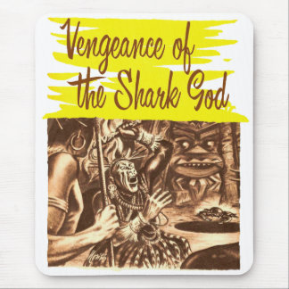 Vintage Kitsch Pulp Vengeance of The Shark God Mouse Pad
