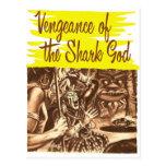 Vintage Kitsch Pulp Vengeance of The Shark God Postcard