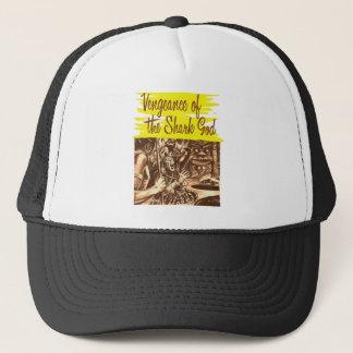 Vintage Kitsch Pulp Vengeance of The Shark God Trucker Hat