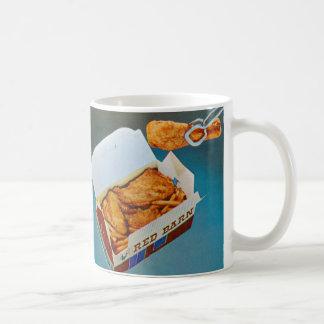 Vintage Kitsch Red Barn Fried Chicken Ad Art Coffee Mug