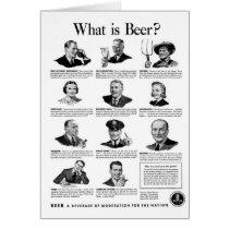 Vintage Kitsch Retro Beer Bier 'What is Beer' Ad