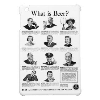 Vintage Kitsch Retro Beer Bier 'What is Beer' Ad iPad Mini Cover