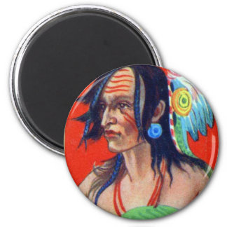 Vintage Kitsch Retro Indian Chewing Gum Two Crows Magnet