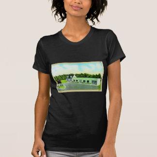 Vintage Kitsch Retro Postcard The Green Building Shirt