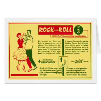 Vintage Kitsch Rock and Roll Dance Dutch 50s Card