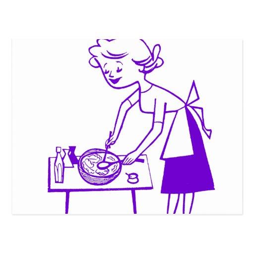 mom cooking cartoon cake ideas and designs
