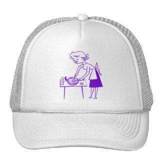 Vintage Kitsch Sixties TV Cooking Mom Cartoon Trucker Hat