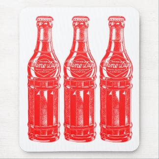 Vintage Kitsch Soda Pop Bottle Wine Dip Mouse Pad