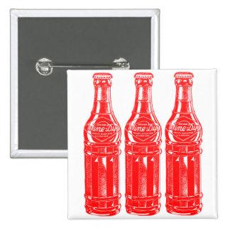 Vintage Kitsch Soda Pop Bottle Wine Dip Pinback Button