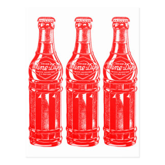 Vintage Kitsch Soda Pop Bottle Wine Dip Postcard