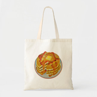 Vintage Kitsch Stack of Pancakes and Bacon Tote Bag