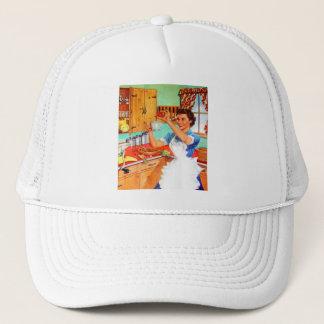 Vintage Kitsch Suburban Housewife Cooking Kitchen Trucker Hat