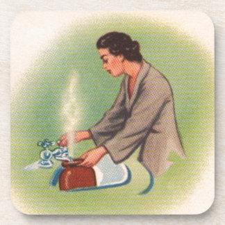 Vintage Kitsch Suburbs Housewife Tea Kettle Drink Coaster