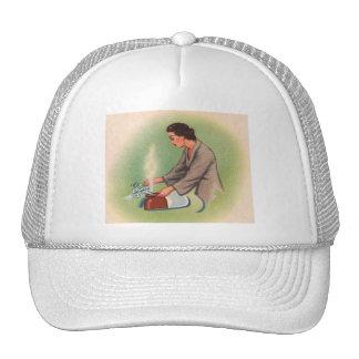 Vintage Kitsch Suburbs Housewife Tea Kettle Trucker Hat