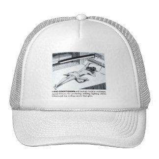 Vintage Kitsch Suburbs Suntanning Sun Lamp Trucker Hat
