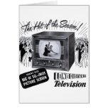 Vintage Kitsch Television B&W TV AD Greeting Card
