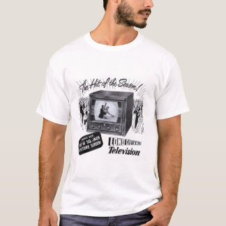 Vintage Kitsch Television B&W TV AD T-Shirt