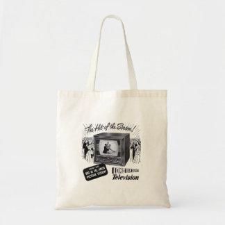 Vintage Kitsch Television B&W TV AD Tote Bag