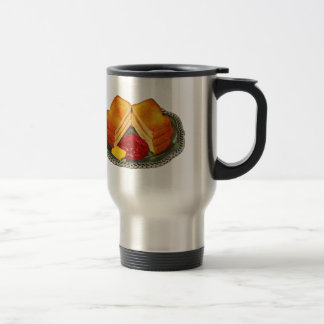 Vintage Kitsch Toast, Butter and Jam Advertisement Travel Mug