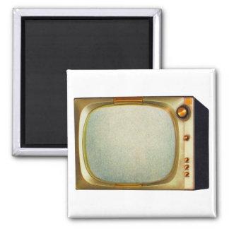 Vintage Kitsch TV Old Television Set illustration Magnet