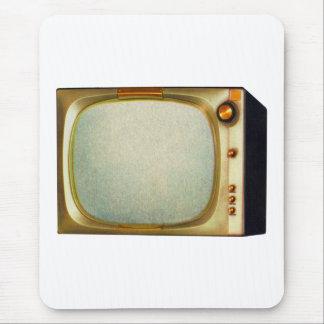 Vintage Kitsch TV Old Television Set illustration Mouse Pad