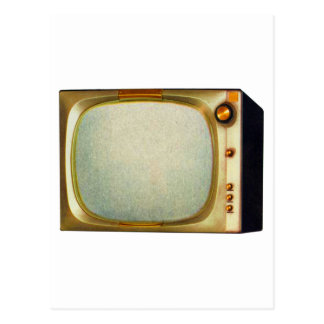 Vintage Kitsch TV Old Television Set illustration Postcard