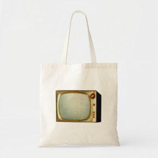 Vintage Kitsch TV Old Television Set illustration Tote Bag