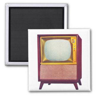 Vintage Kitsch TV Old Television Set 2 Inch Square Magnet